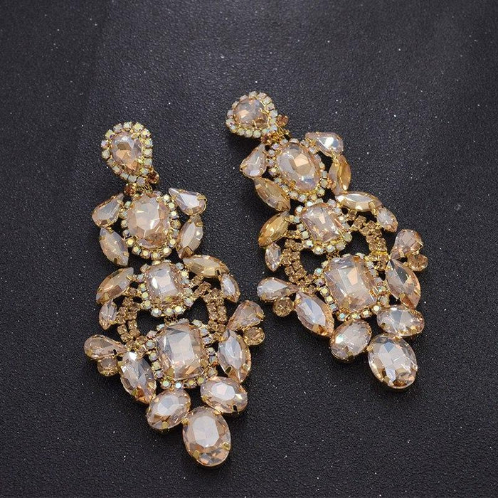 Drag-Clip-on Earrings - Sofia-Champagne-