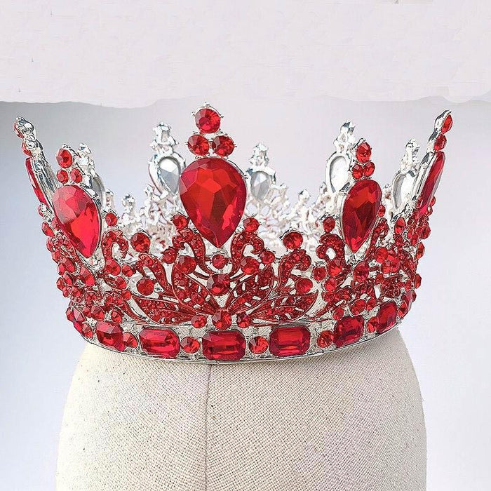 Drag-Crystal Crown - Tyra-Red-The Drag Room