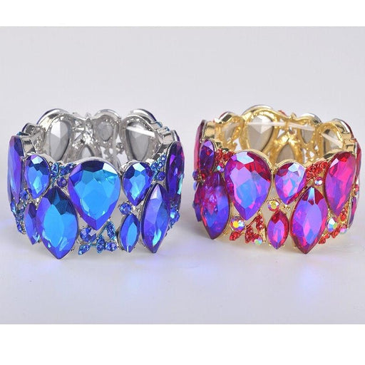 Drag-Crystal Cuff Bracelet - Emma-The Drag Room