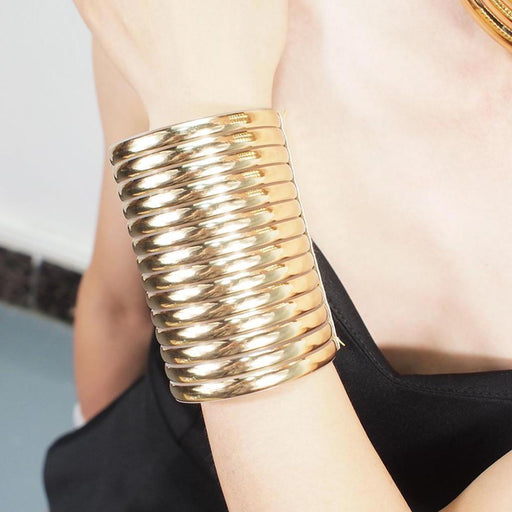 Drag-Cuff Bracelet - Natalia-Gold-Single-No