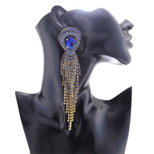 Drag-Drag Earrings - Come Through-Blue-