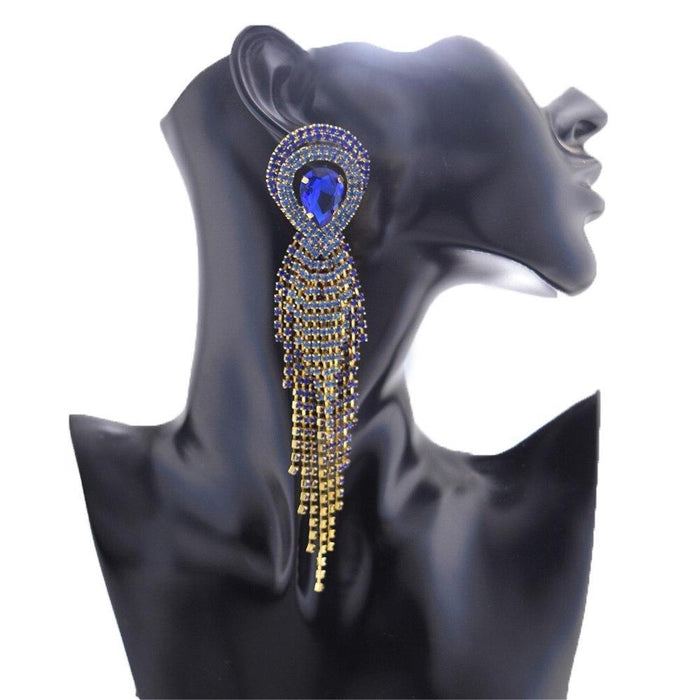 Drag-Drag Earrings - Come Through-Blue-The Drag Room