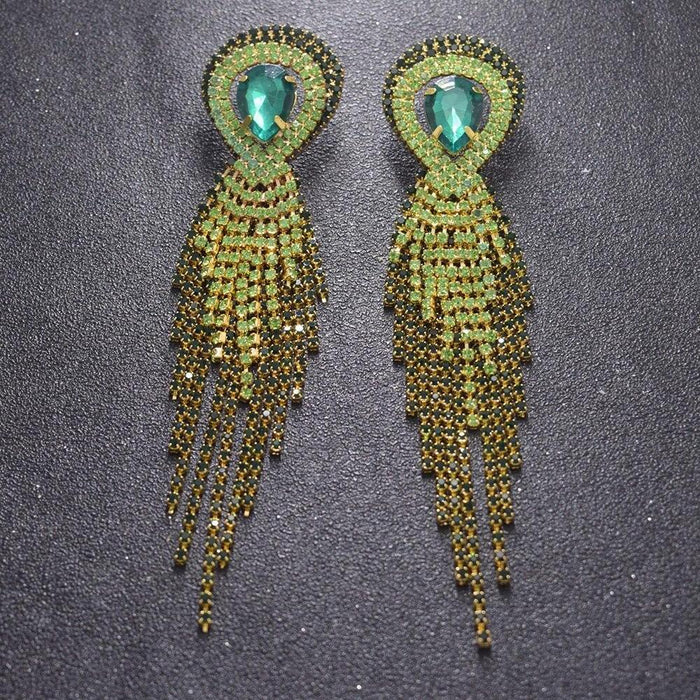 Drag-Drag Earrings - Come Through-Green-The Drag Room
