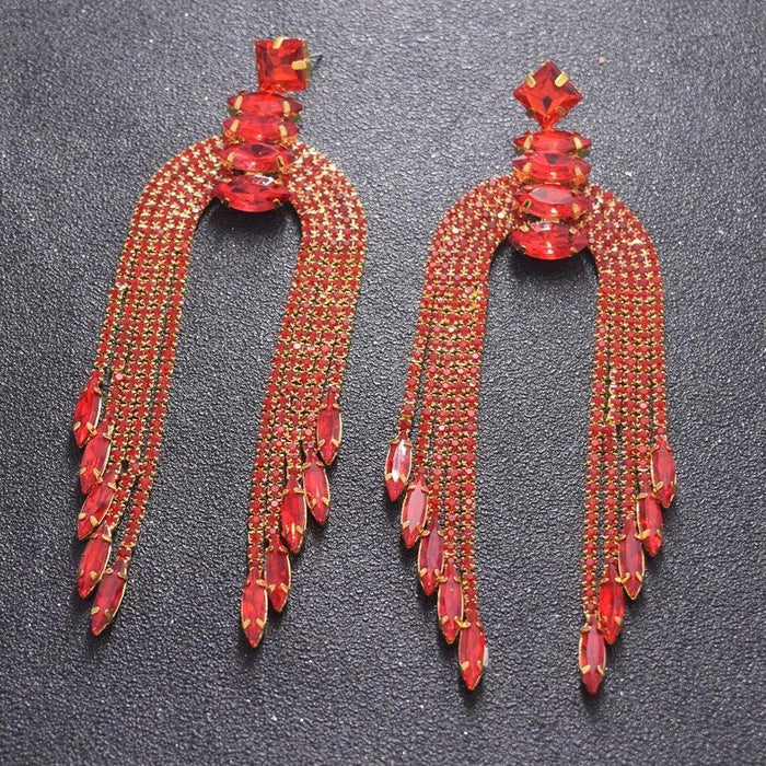 Drag-Drag Earrings - Miss Fish-Red-The Drag Room