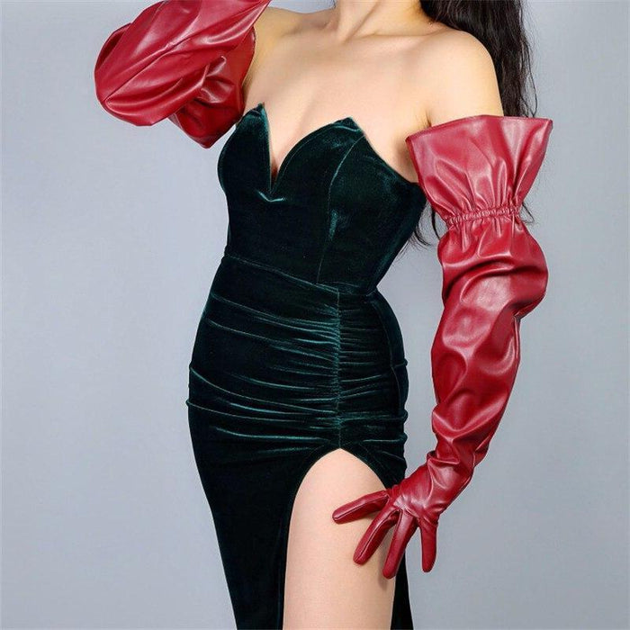 Drag-Drag Gloves - Sleeve-Maroon-The Drag Room