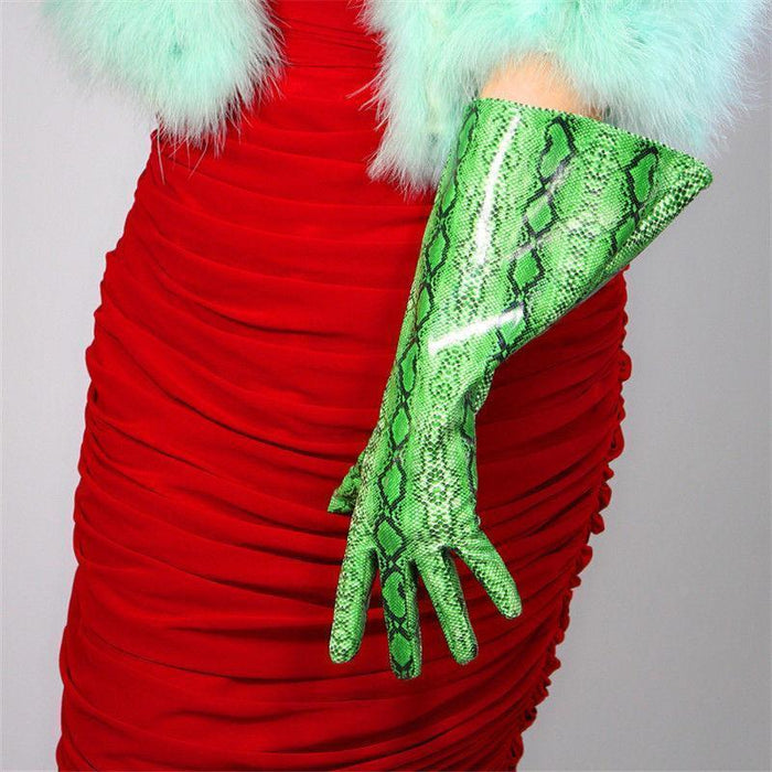 Drag-Drag Gloves - Warrior-Green-Snakeskin-