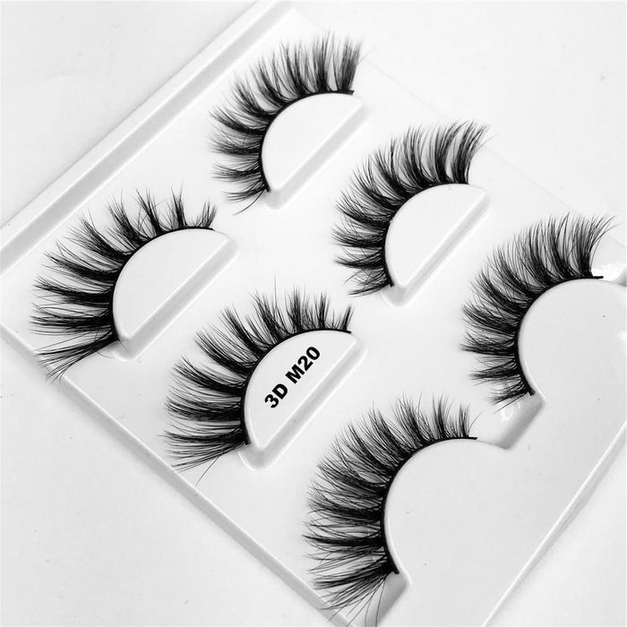 Drag-Drag Queen Eyelashes - 3D M Series (3 Pack)-3D M20-The Drag Room