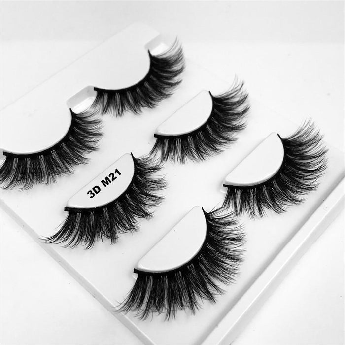 Drag-Drag Queen Eyelashes - 3D M Series (3 Pack)-3D M21-The Drag Room