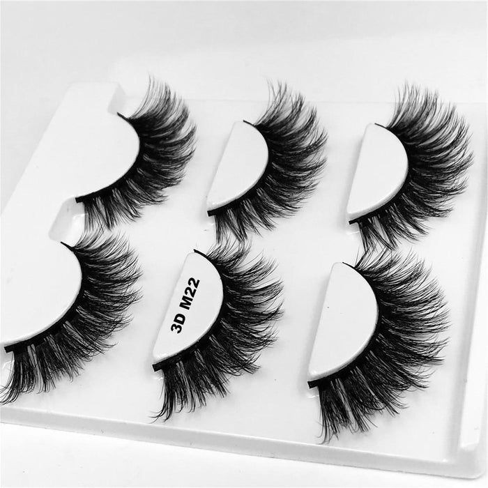 Drag-Drag Queen Eyelashes - 3D M Series (3 Pack)-3D M22-The Drag Room