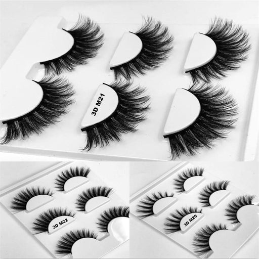 Drag-Drag Queen Eyelashes - 3D M Series (3 Pack)-