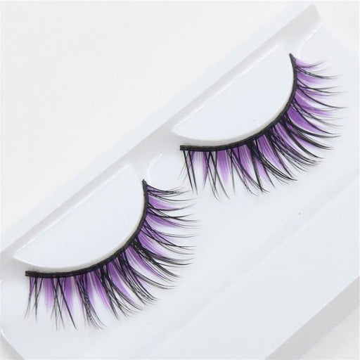 Drag-Drag Queen Eyelashes - Purple & Black-