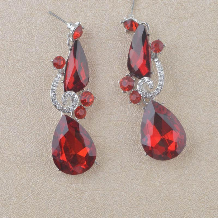 Drag-Drop Earrings - Bren-Red-The Drag Room