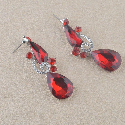 Drag-Drop Earrings - Bren-Red-