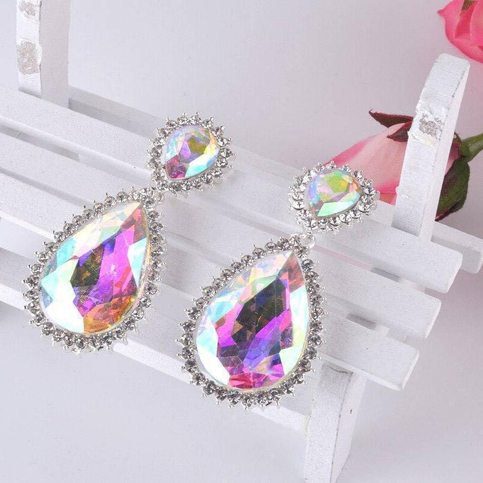 Drag-Drop Earrings - Dreamer-AB Crystal-