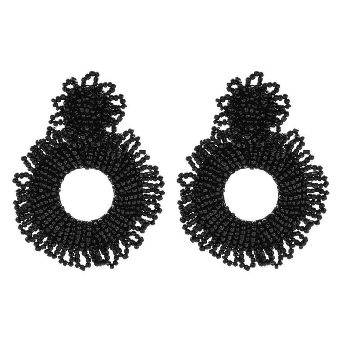 Drag-Earrings - Bede-Black-
