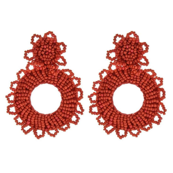 Drag-Earrings - Bede-Red-