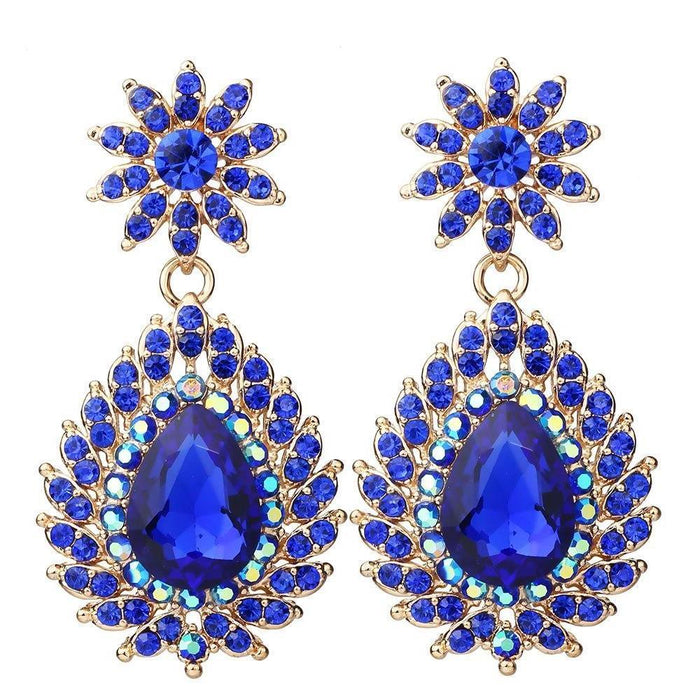 Drag-Earrings - Penny-Dark Blue-The Drag Room