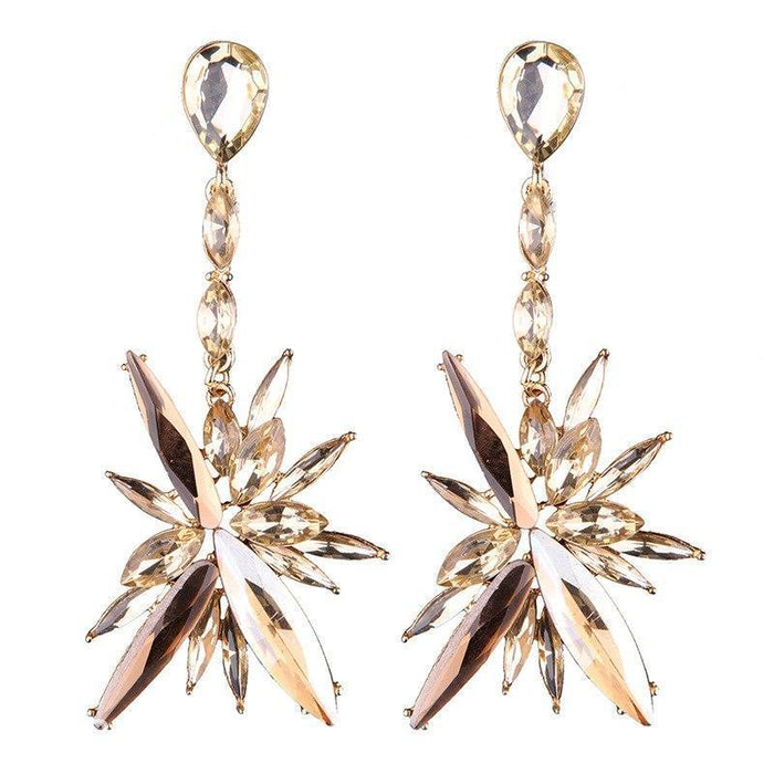 Drag-Earrings - Starfall-Champagne-