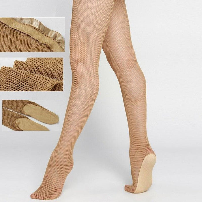 Drag-Fishnet Tights - Strong Professional Dance Fishnets-Neutral-L/XL-The Drag Room