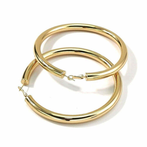 Drag-Hoop Earrings - Zoe-Gold-