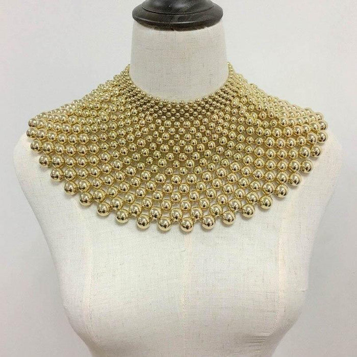 Drag-Statement Necklace - Angarika-Gold-The Drag Room