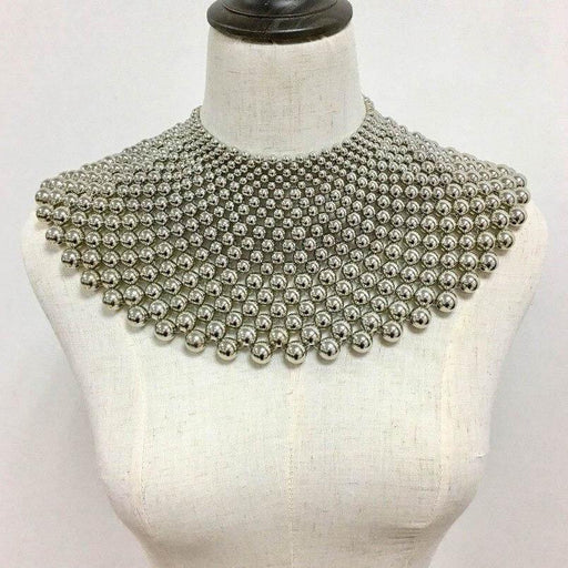 Drag-Statement Necklace - Angarika-Silver-