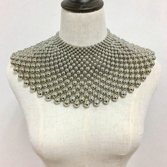 Drag-Statement Necklace - Angarika-Silver-The Drag Room