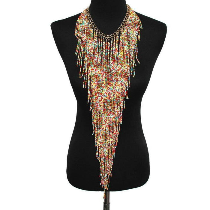 Drag-Statement Necklace - Samira-Multi-