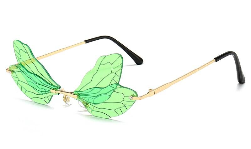 Drag-Sunglasses - Dragonfly-Green-The Drag Room