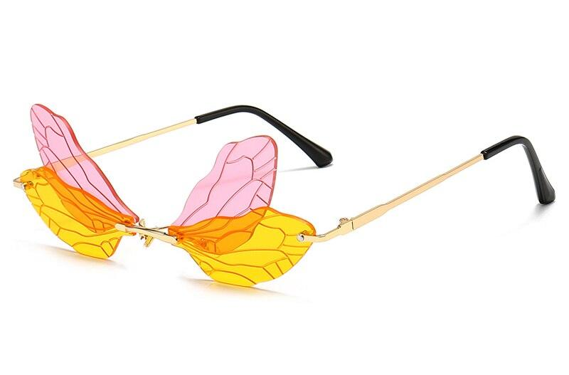 Drag-Sunglasses - Dragonfly-Yellow-The Drag Room