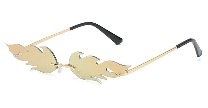 Drag-Sunglasses - I See Fire-Gold-