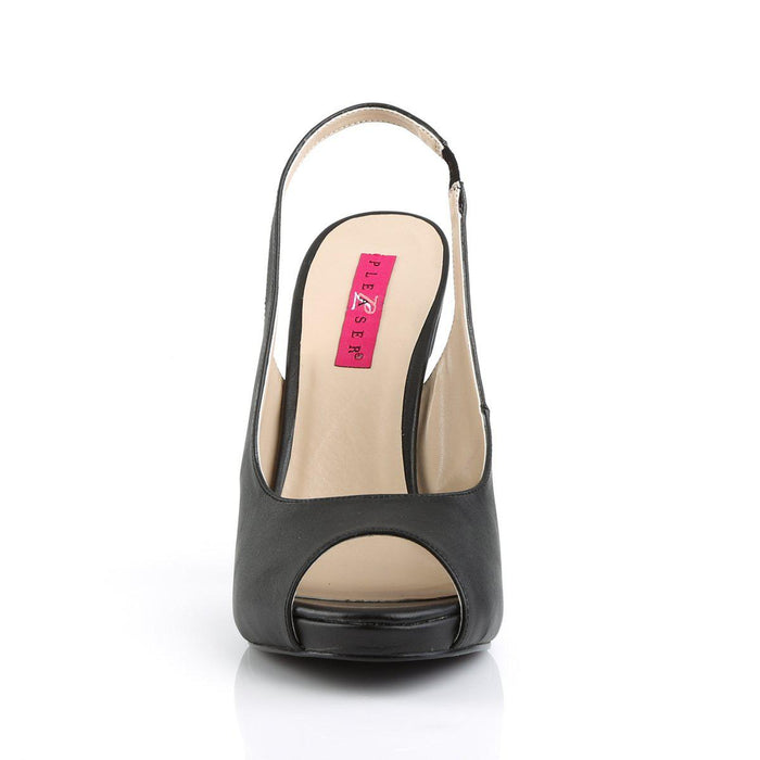 Pleaser Pink Label EVE04/BPU Drag Platform Shoes by Pleaser, available to buy at The Drag Room