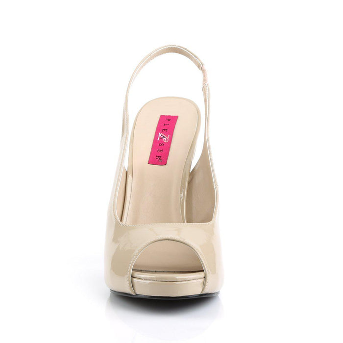 Pleaser Pink Label EVE04/CR Drag Platform Shoes by Pleaser, available to buy at The Drag Room