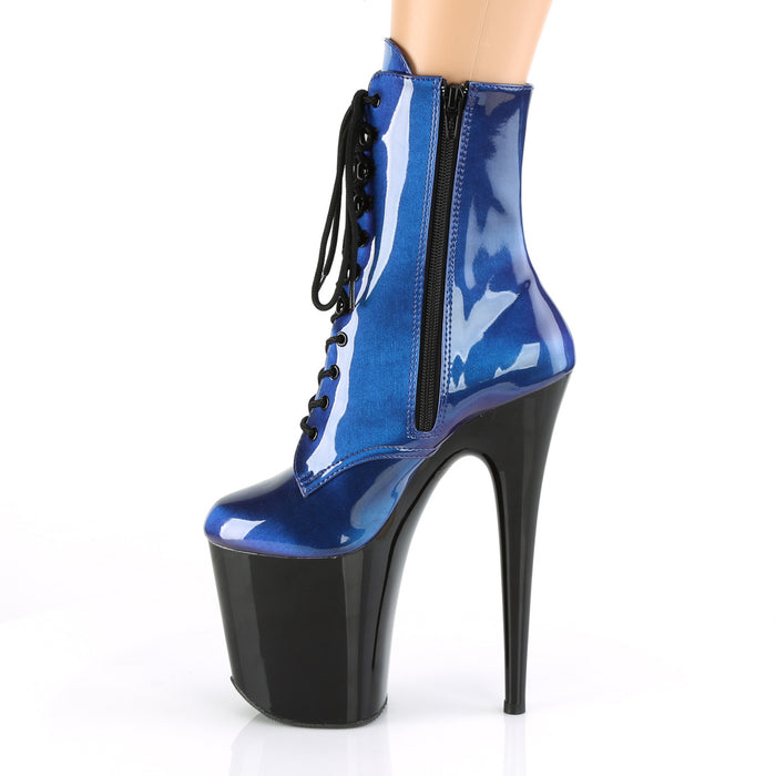 Pleaser FLAM1020SHG/BLU-PP/B Drag Platform Shoes by Pleaser, available to buy at The Drag Room