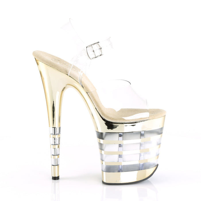 Pleaser FLAM808CHLN/C/GCH Drag Platform Shoes by Pleaser, available to buy at The Drag Room