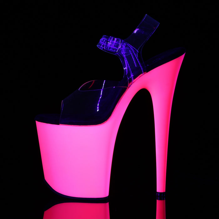 Pleaser FLAM808UV/C/NP Drag Platform Shoes by Pleaser, available to buy at The Drag Room