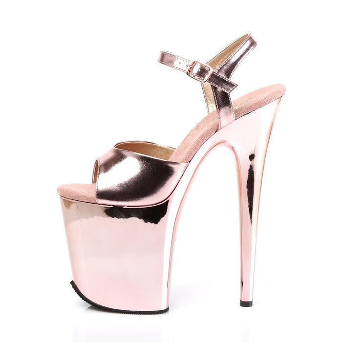 Pleaser FLAM809/ROGLDPU/M Drag Platform Shoes by Pleaser, available to buy at The Drag Room