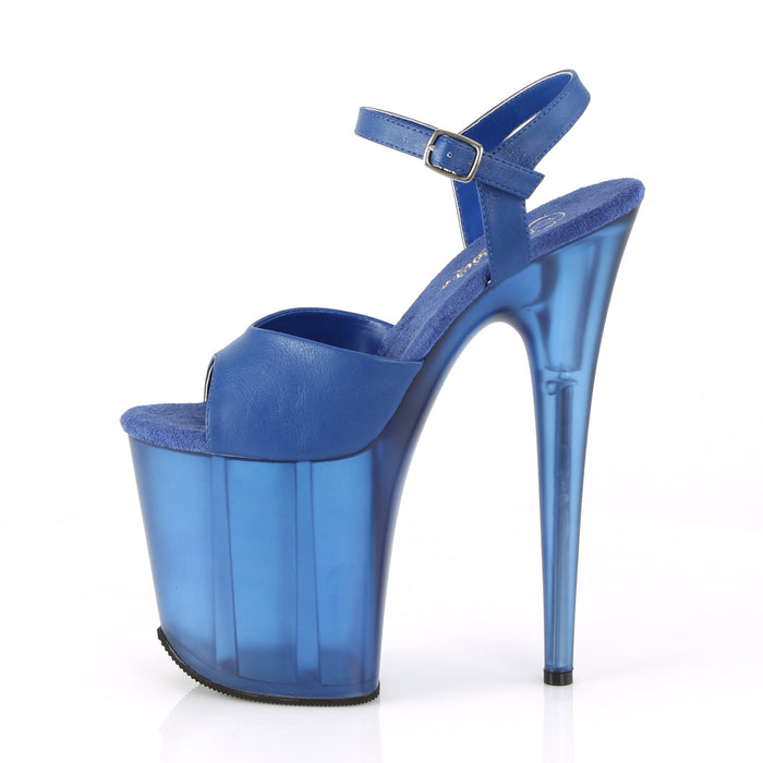 Pleaser FLAM809T/BLUPU/M Drag Platform Shoes by Pleaser, available to buy at The Drag Room