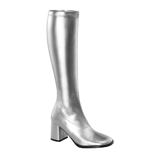 Funtasma GOGO300/S/PU Drag Boots by Pleaser, available to buy at The Drag Room