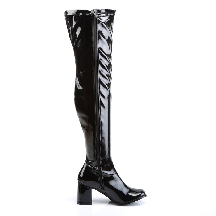 Funtasma GOGO3000/B Drag Boots by Pleaser, available to buy at The Drag Room