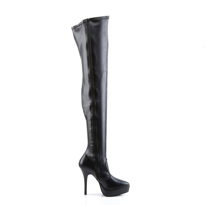 Devious IND3000/B/PU Drag Platform Shoes by Pleaser, available to buy at The Drag Room
