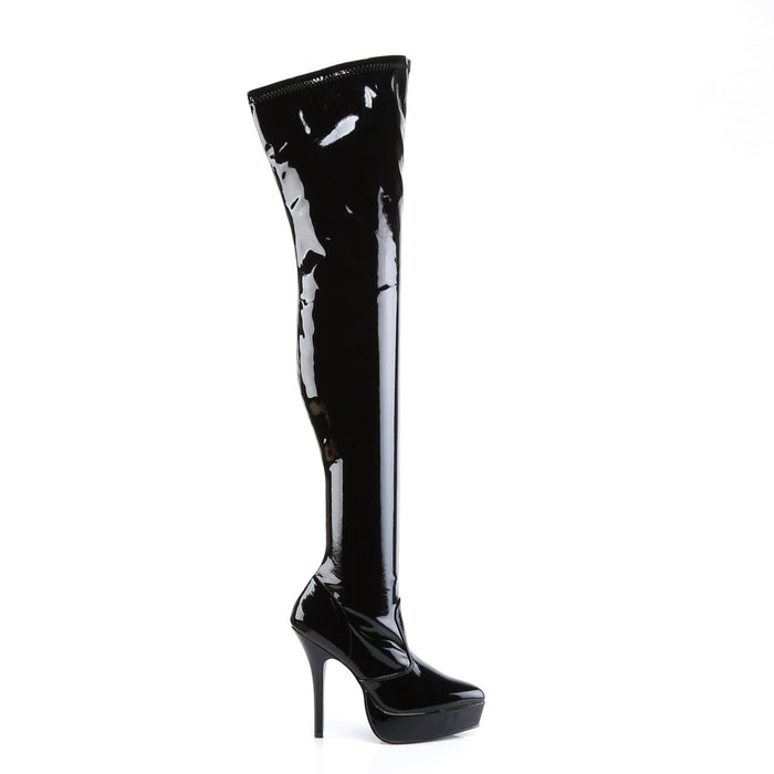 Devious IND3000/B Drag Platform Shoes by Pleaser, available to buy at The Drag Room