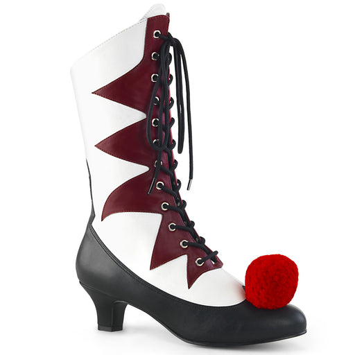 Funtasma IT120/W-BYPU Drag Boots by Pleaser, available to buy at The Drag Room