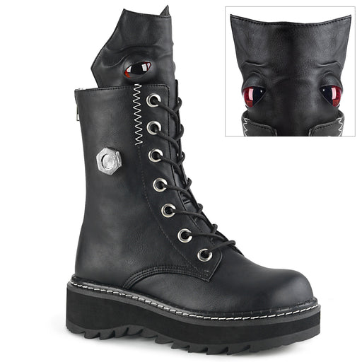 Demonia LILITH220/BVL Drag Boots by Pleaser, available to buy at The Drag Room