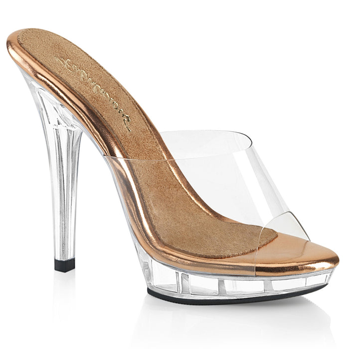 Fabulicious LIP101/C-ROGLD/C Drag Shoes by Pleaser, available to buy at The Drag Room