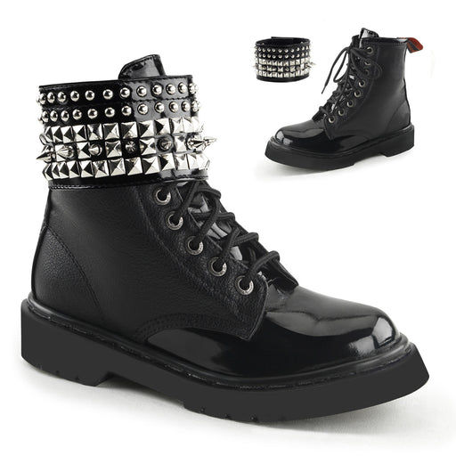Demonia RIV106/BPU Drag Boots by Pleaser, available to buy at The Drag Room