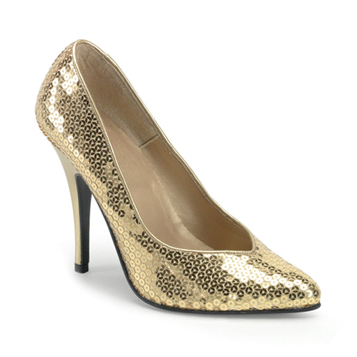 Pleaser SED420SQ/GLD Drag Footwear by Pleaser, available to buy at The Drag Room