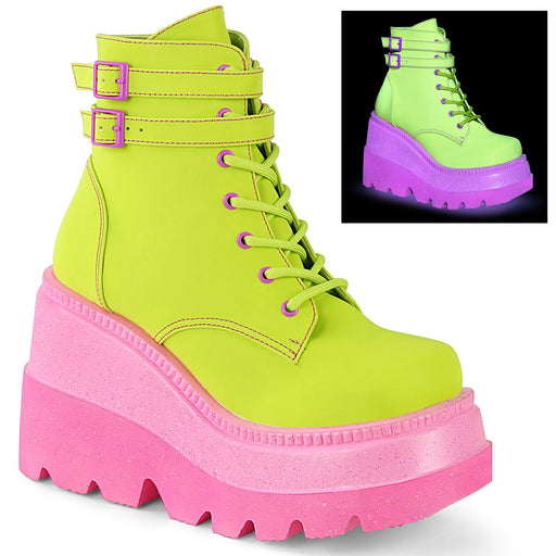Demonia SHA52/LMREFL Drag Boots by Pleaser, available to buy at The Drag Room