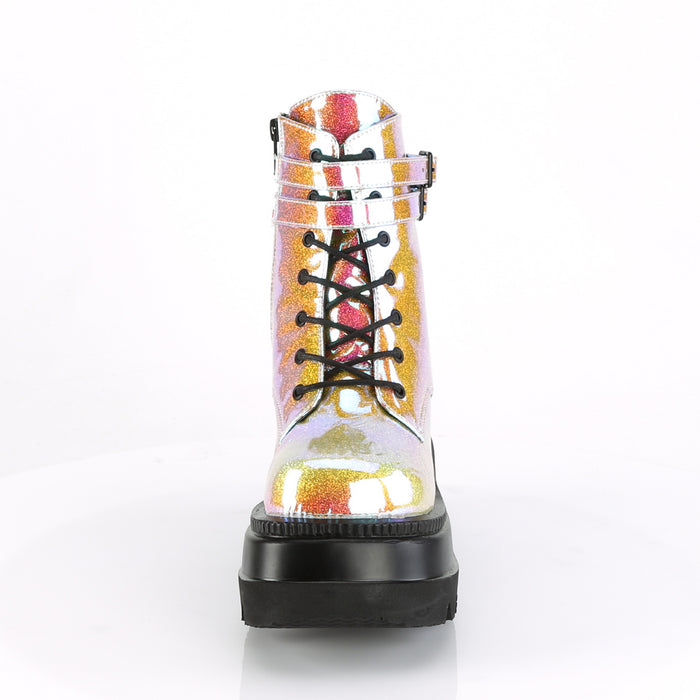 Demonia SHA52/PNGVL Drag Boots by Pleaser, available to buy at The Drag Room