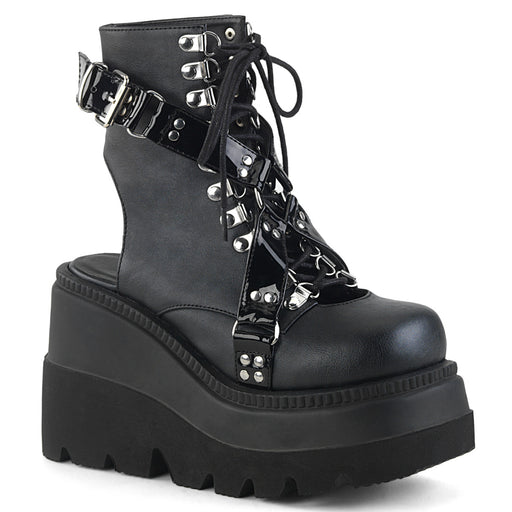 Demonia SHA56/BVL-PT Drag Boots by Pleaser, available to buy at The Drag Room
